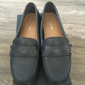 Coach black loafers 8